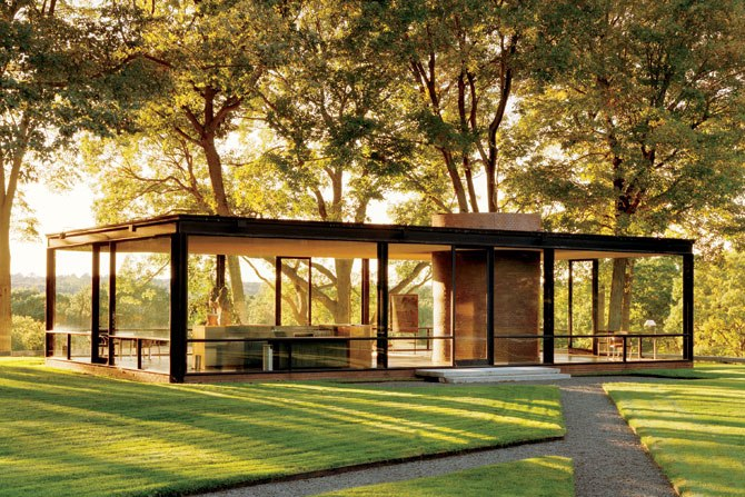 Philip Johnson The Glass House inspired our Glasshaus Living