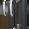 choose interior handles only or Balcony Hardware with deadbolt + exterior handle - available in white, black or brushed nickel finishes